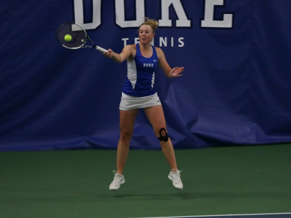 Freshman Kaitlyn McCarthy lost for the first time on court one this season Tuesday against N.C. State and will try to bounce back this weekend against Georgia Tech and Clemson.