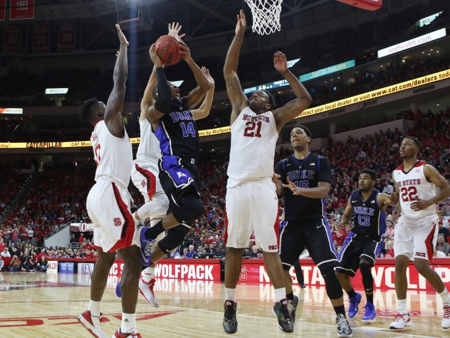After getting 10 shots blocked Sunday in its first loss, Duke will look to be more patient when attacking Miami on the offensive end Tuesday night.