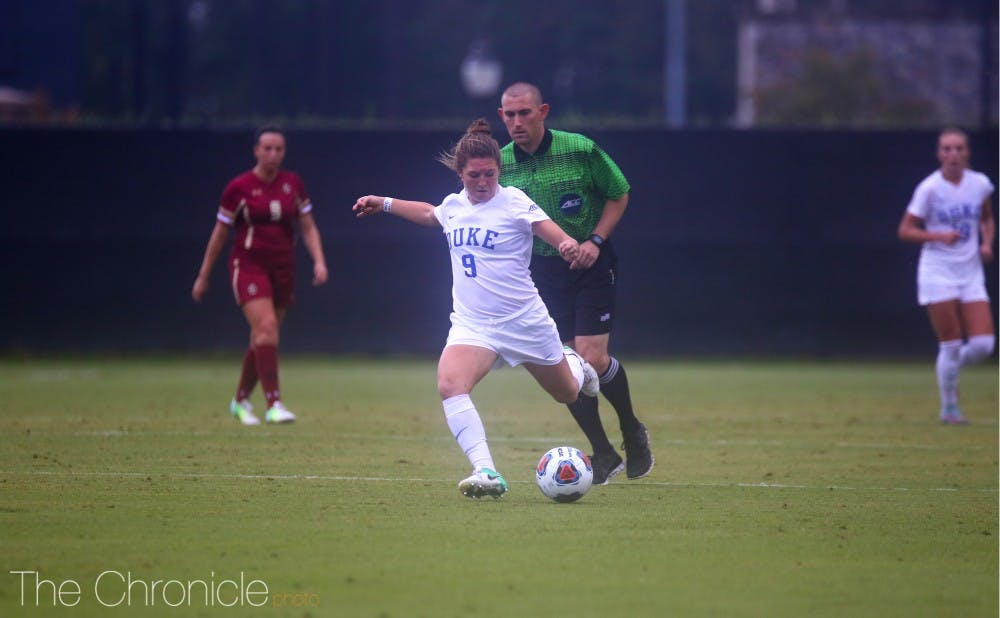 <p>Kat McDonald's late game heroics gave Duke the edge it needed to secure a win against Wake Forest Thursday.</p>