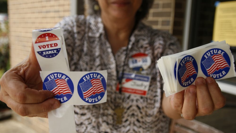 <p>Approximately 3,000 people ages 18 to 22 who are residents of the three precincts that include Duke's campus voted early.&nbsp;</p>
