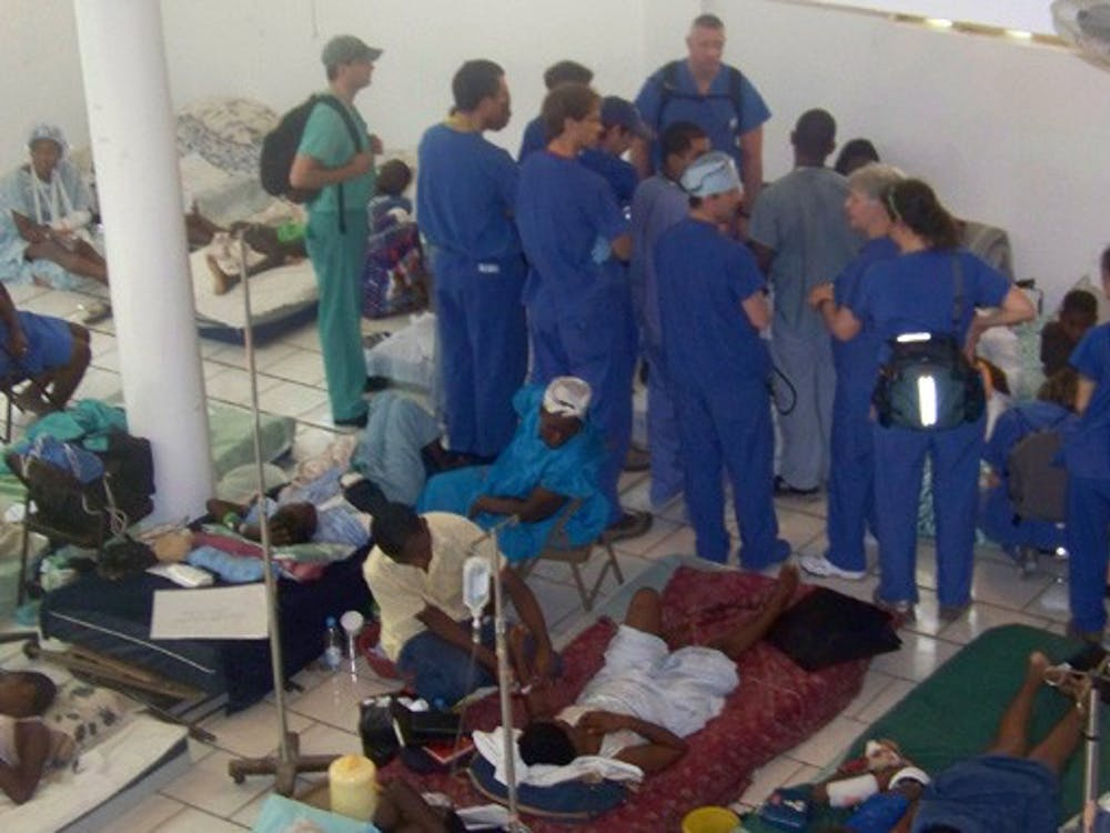 After spending 10 days in Haiti, the first Duke medical team (above) returned to Durham Feb. 15. This Saturday, DUHS will send a second team to Haiti to continue health services.