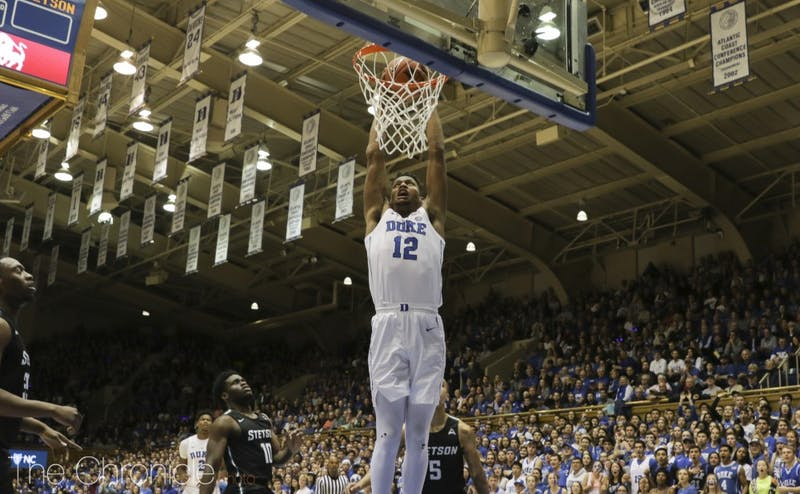 The Blue Devils had a plethora of dunks against the Hatters Saturday.