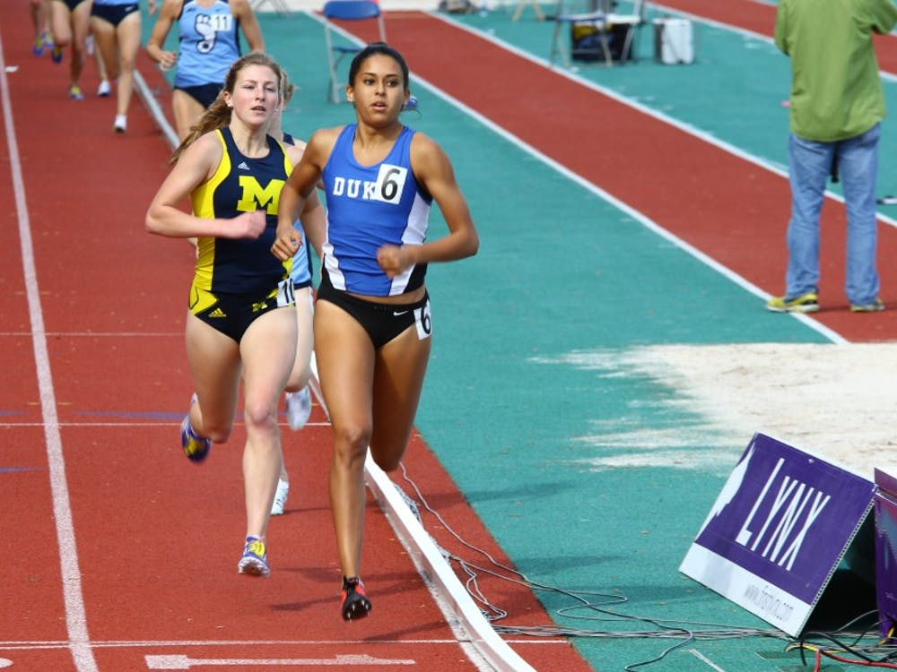 Anima Banks will compete in several events throughout the weekend as she looks to help the Blue Devils earn their first-ever conference title on the women's side.
