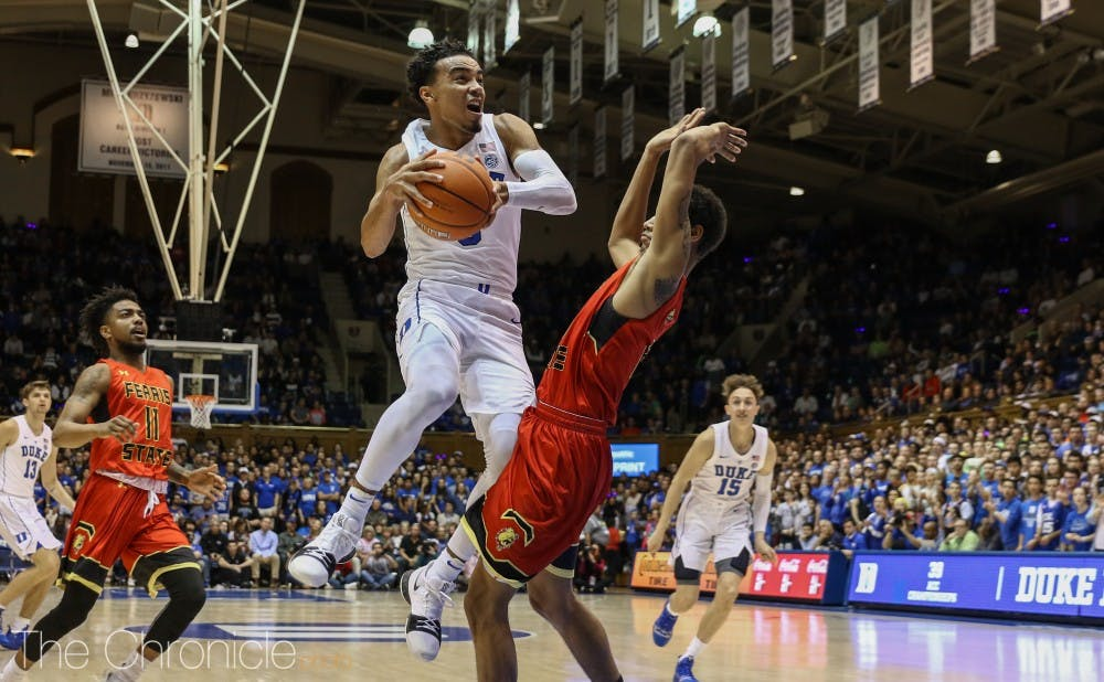 <p>Tre Jones played the best game off his young career Monday night.</p>