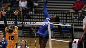 Outside hitters Ade Owokoniran (pictured above) and Payton Schwantz have become one of the fiercest duos in the ACC.
