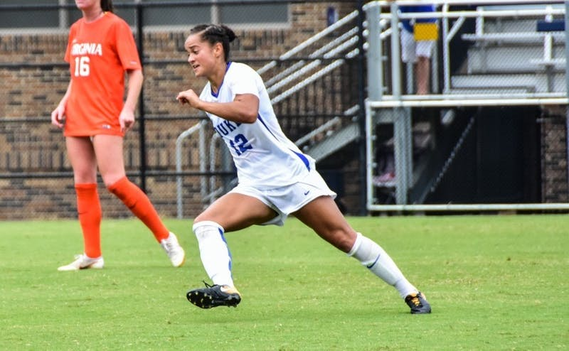 Kayla McCoy scored the lone goal of Friday's victory against Rutgers in the 78th minute.