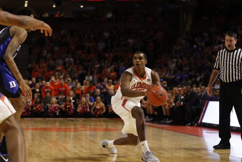 A 3-point play by Donte Grantham brought Clemson to within 48-47 as the Tigers erased what had been a 12-point Duke lead.