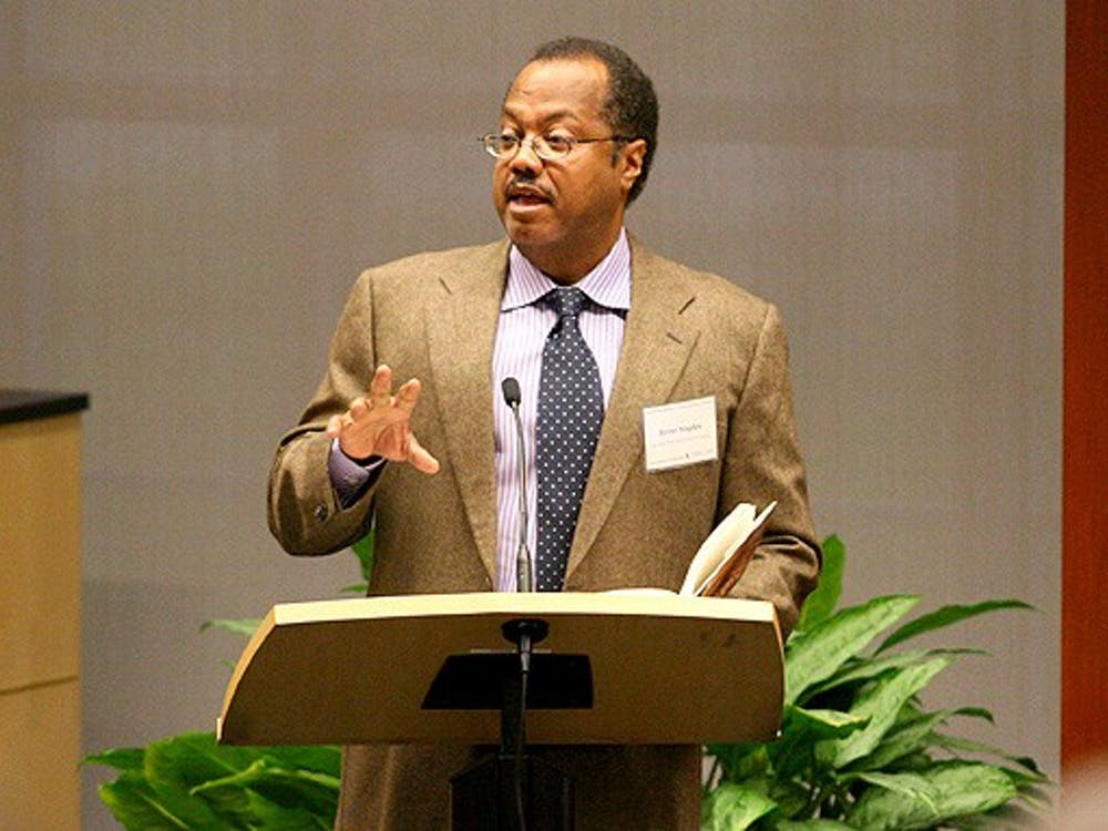 New York Times Editorial Board member Brent Staples speaks about the legacy of John Hope Franklin during the three-day conference honoring the late James B. Duke professor emeritus of history Thursday.