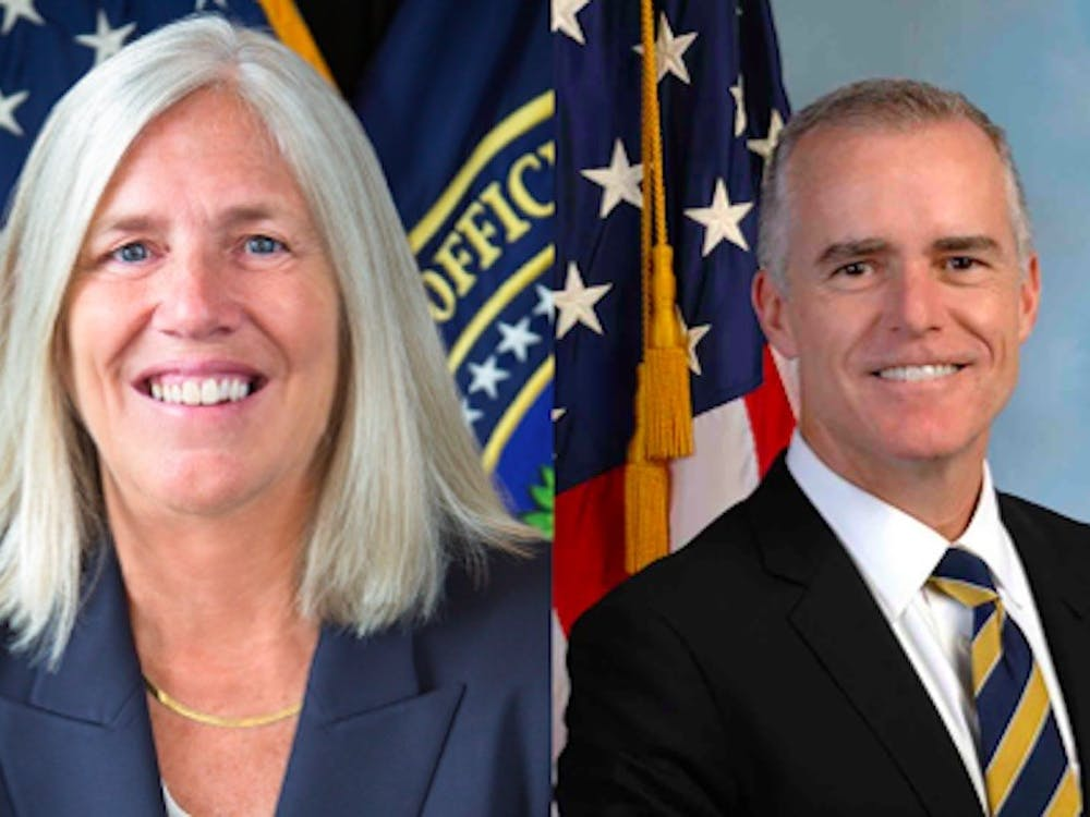 Two Duke alumni were once top national security officials: Sue Gordon (left) and Andrew McCabe (right).