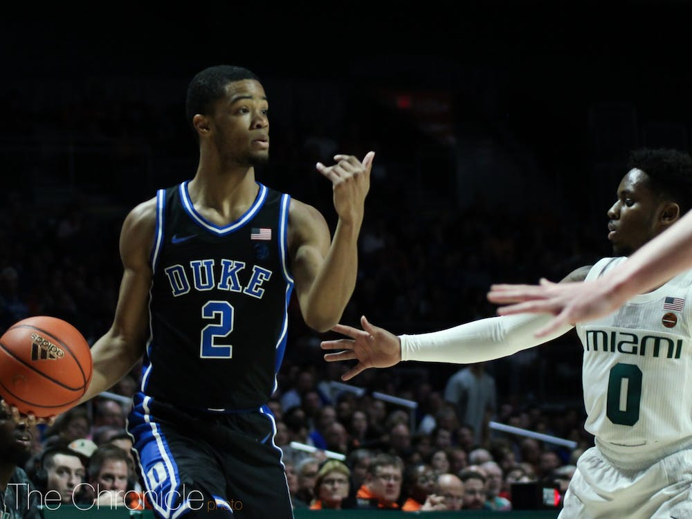 <p>Cassius Stanley put up an efficient 20 points Saturday night, including the first seven points of the contest for the Blue Devils.</p>