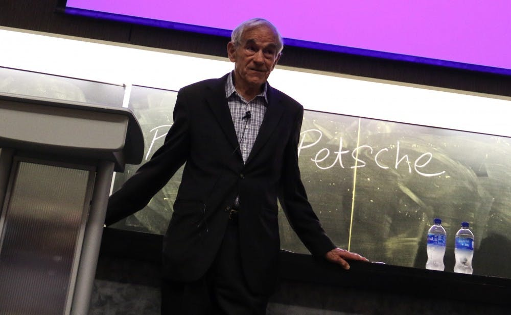 Ron Paul spoke on campus Thursday night.