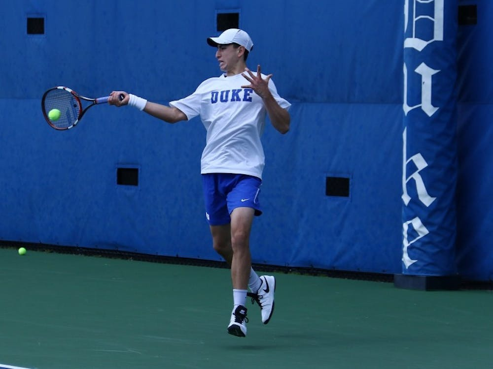 Junior Nicolas Alvarez was unable to win a match in this week's ITA All-American Championships main draw.