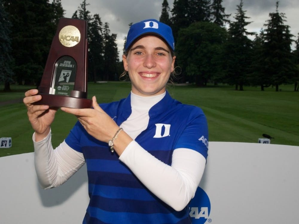 Virginia Elena Carta set records for largest margin of victory, 54-hole scoring record and 72-hole scoring record during her dominant individual NCAA championship victory.
