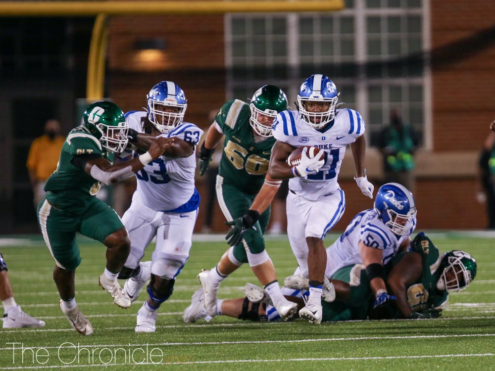 Duke boasts the top-ranked rushing attack in the ACC through Week Four.