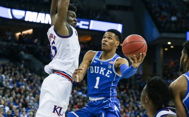 Trevon Duval recently declared for the NBA draft after just one season at Duke.