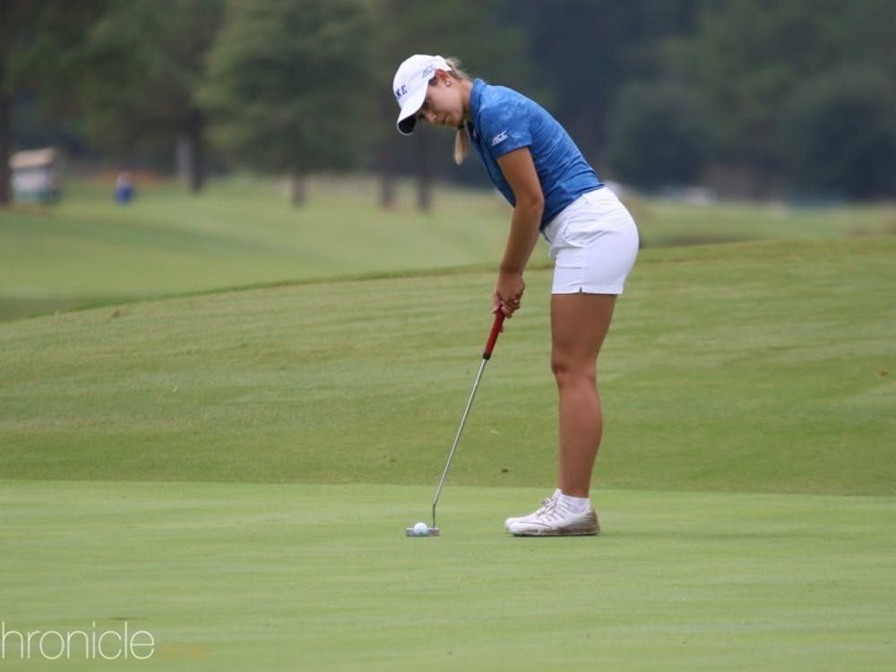 Senior Ana Belac led Duke with a six-over-par 219 for the weekend.