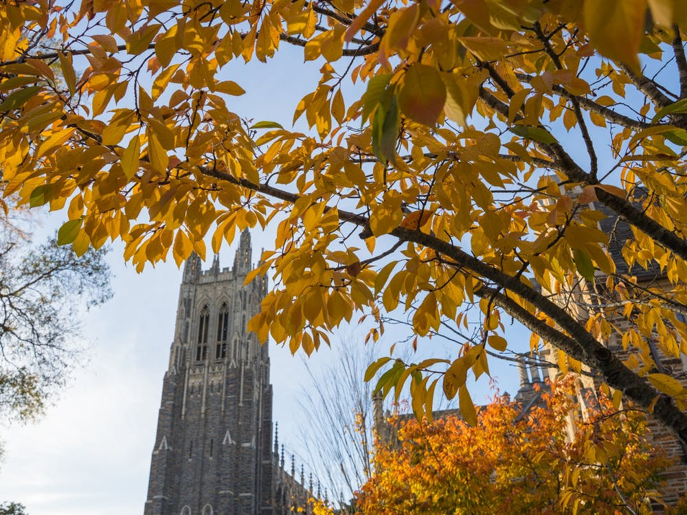 As the leaves turn to orange and the weather begins to cool, come take a glance at Aaron Zhao, Henry Haggart, and Winnie Lu's photographic depiction of Duke's 2020 Fall season.