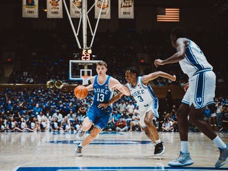 As the lone senior, forward Joey Baker (13) will have an increased leadership role—and heightened expectations.