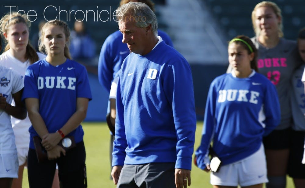 <p>Robbie Church earned his 200th win with the Blue Devils' Duke Nike Classic victory late Friday night.</p>