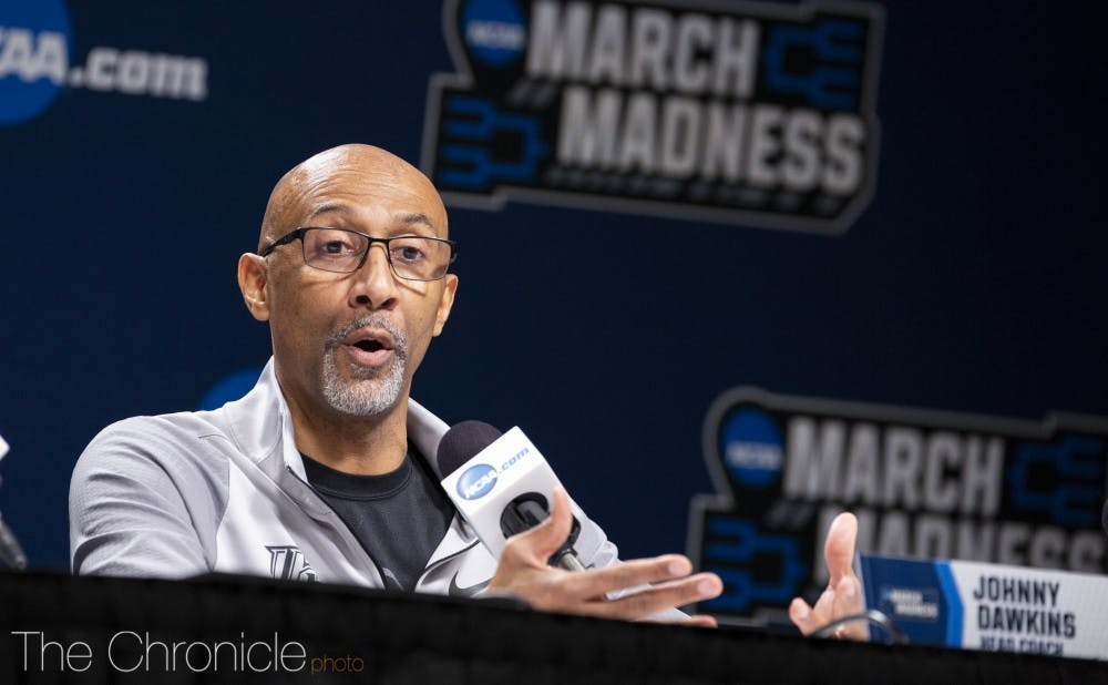 <p>Central Florida head coach and former Duke star Johnny Dawkins will face his alma mater for just the second time since departing Durham in 2008.</p>