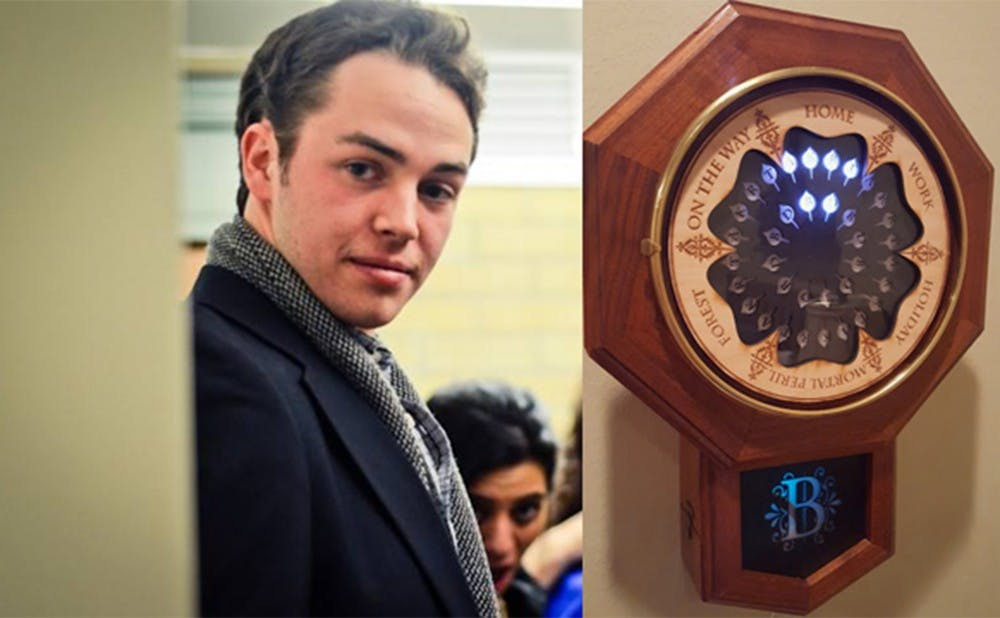 """<p>Senior Trey Bagley III has made national headlines for constructing a replica of the Weasley family clock from the """"Harry Potter"""" series.</p>"""