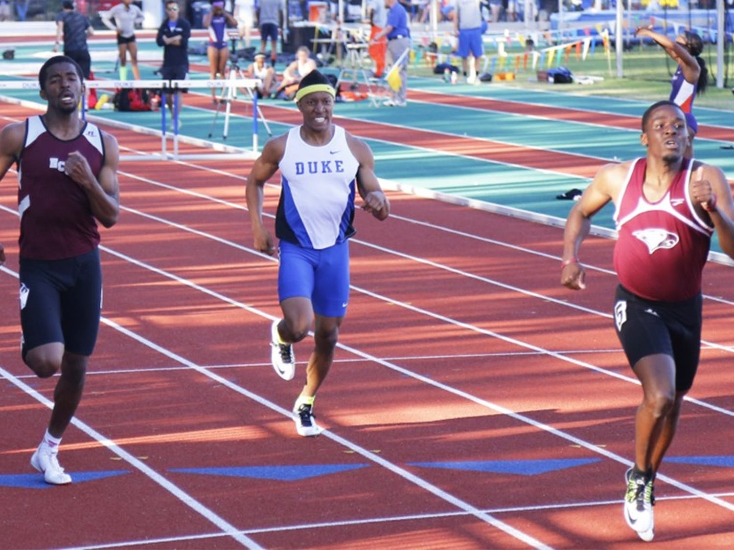 JuniorChaz Hawkins will run the 200 meters for the first time this outdoor seasonthis weekend at the Duke Invitationalin addition to competing the discus and pole vault.