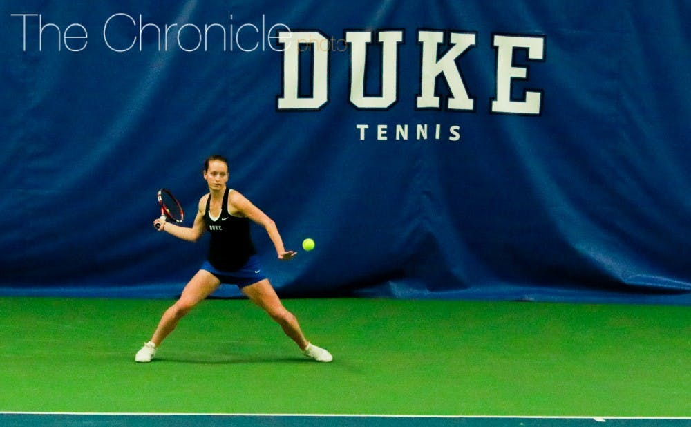 <p>Chalena Scholl and the Blue Devils will need to pull off an upset to advance at the national team indoor championships this weekend.&nbsp;</p>