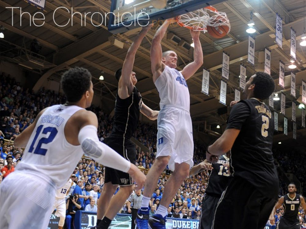 Center Marshall Plumlee's Blue Devil career came to an end in the Sweet 16 last week, but he and his brothers provided several memorable moments in Cameron Indoor Stadium.