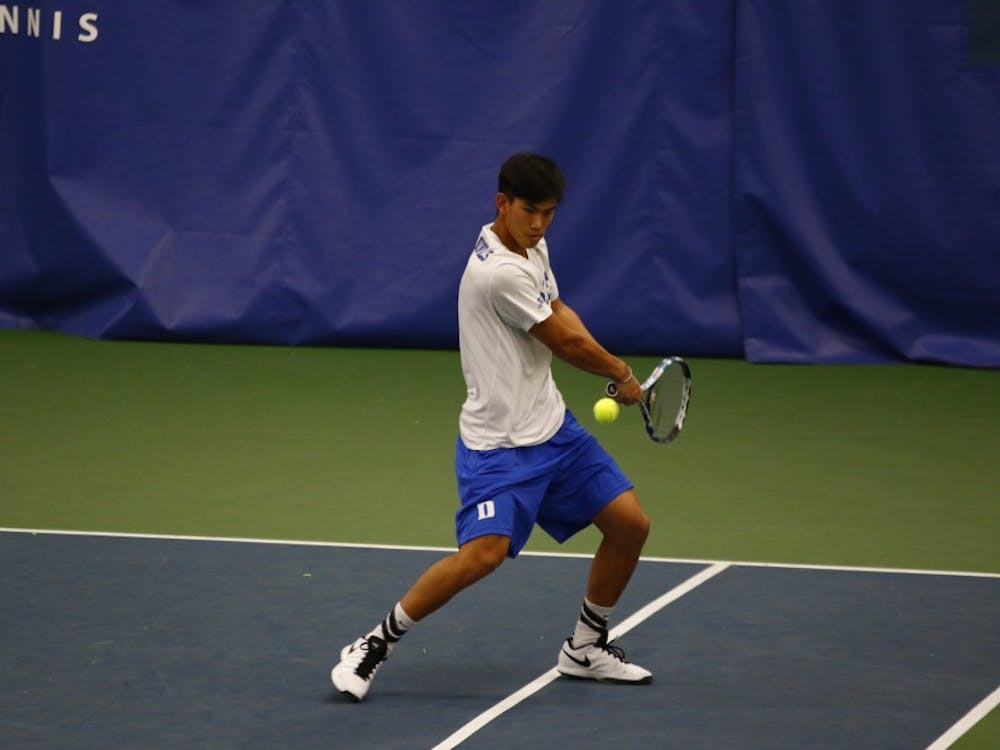 Freshman Vincent Lin responded to a drop to court four with a convincing singles victory Friday, but it was not enough for the Blue Devils against the No. 7 Fighting Illini.