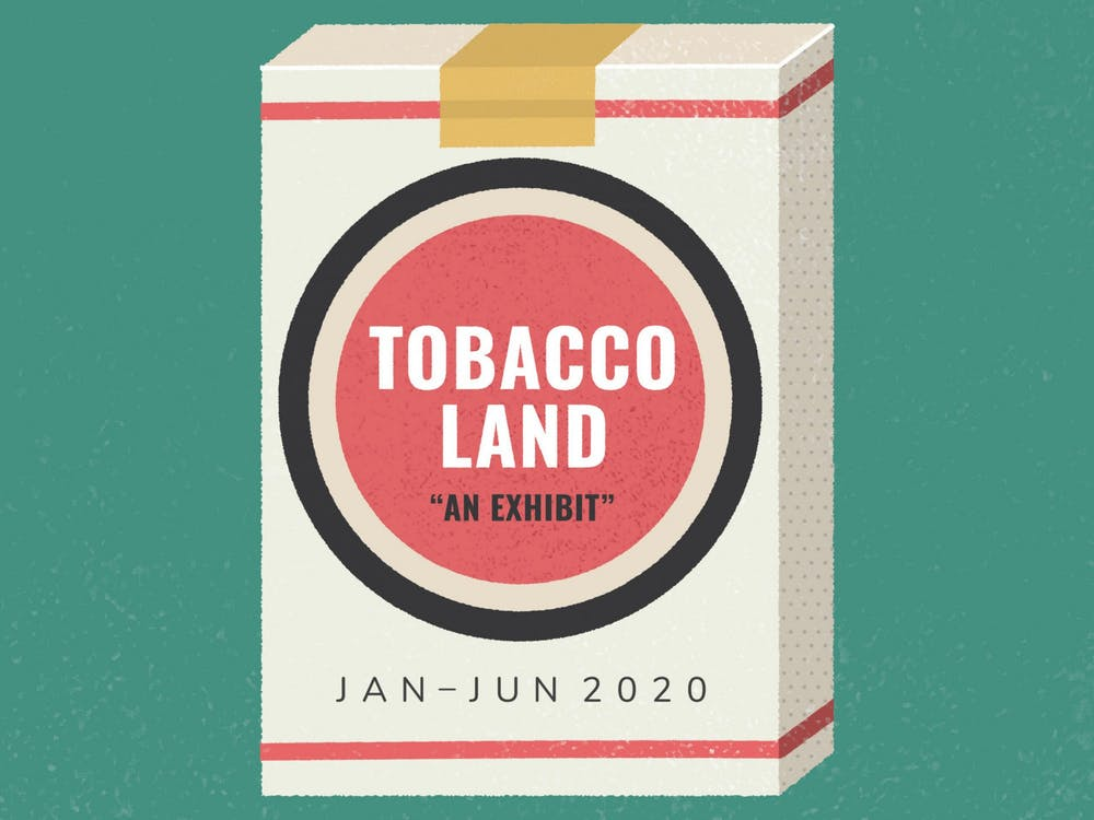 """Tobaccoland"" is on display in the Mary Duke Biddle Room in the Rubenstein Library."