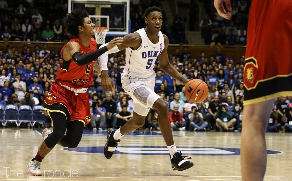 R.J. Barrett will learn from his late mistakes from Gonzaga.