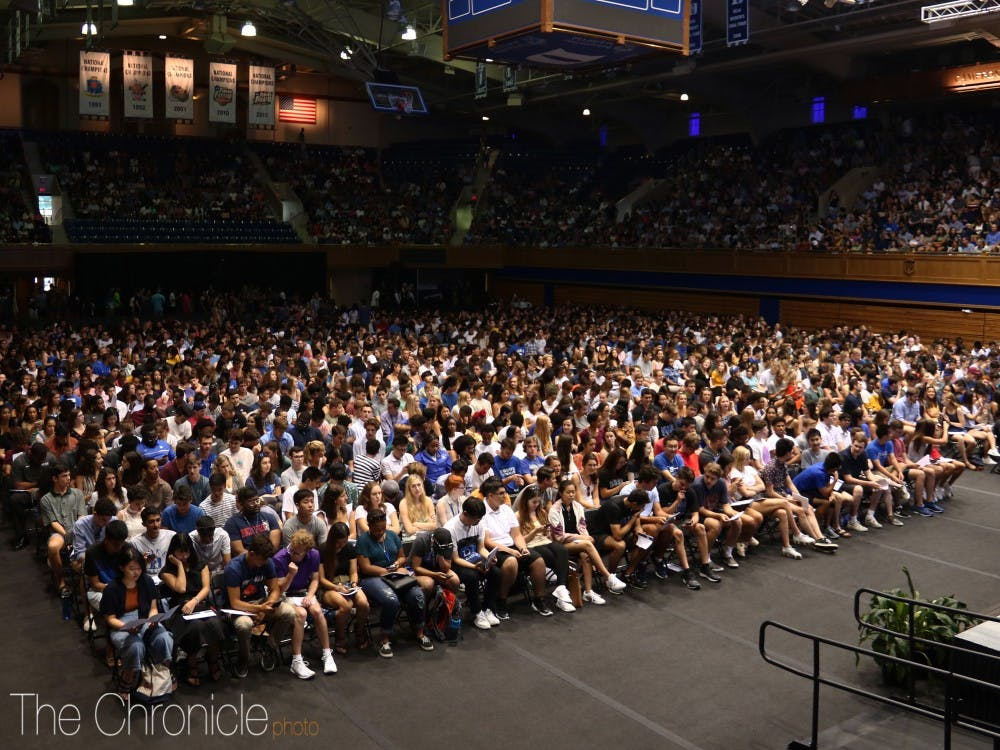 The Class of 2023 and their families gathered in Cameron Indoor Stadium for this year's Convocation. Here are Features Photo Editor Michelle Tai's best shots from the event.