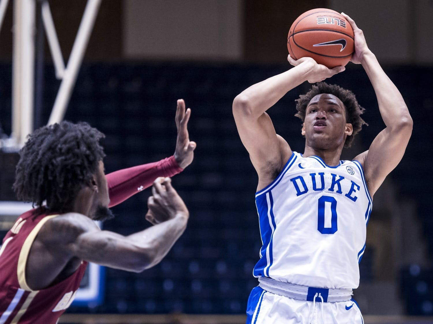 While Moore's 25-point performance was impressive, he has struggled offensively in the Blue Devils' other seven contests.