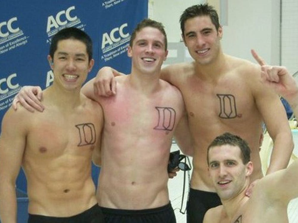 For the first time in Duke history, a men's relay team won first place in the ACCs.