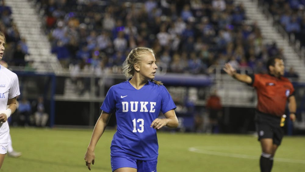 Emmy Duerr scored twice against the Utes Friday night.