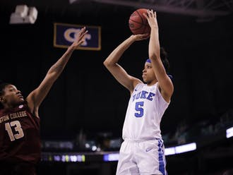 Leaonna Odom's pull-up jumpers were not enough for Duke to overcome Boston College's 60 percent mark from outside.