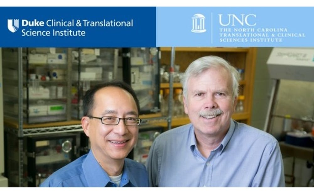 <p>Donald Lo and Albert Baldwin have collaborated to study&nbsp;glioblastoma multiforme, an aggressive form of brain cancer.</p>
