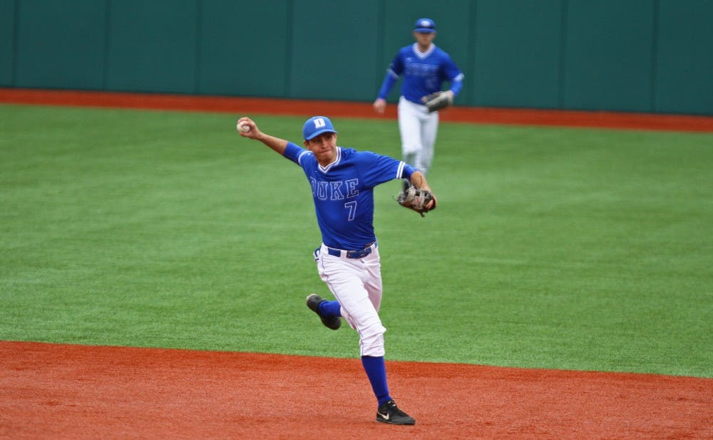 Junior Kenny Koplove—Duke's starting shortstop since his freshman year—has assumed closing duties so far this season.