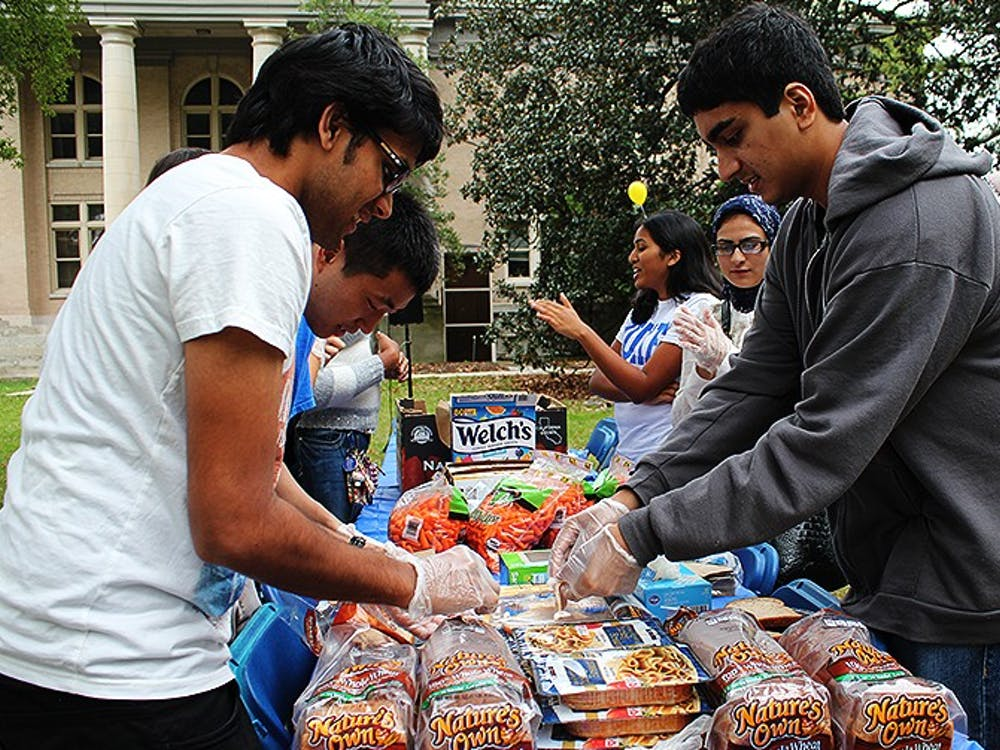 Students at the MSA's Eid festival prepared food to donate to charity.