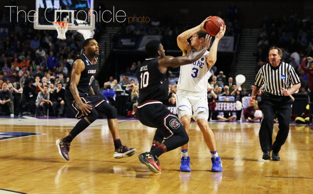 <p>The Gamecocks wore Duke down with their physicality on both ends of the court and took advantage of a deeper bench when foul trouble set in.&nbsp;</p>