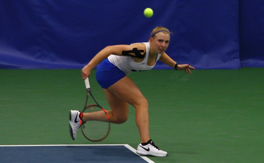 <p>Freshman Ellyse Hamlin and the Blue Devils will face their third straight top-20 opponent Friday.</p>