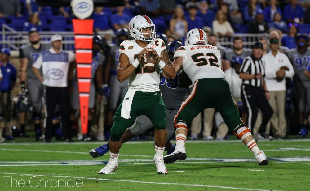 Malik Rosier was able to break off seven passing plays of 25 yards or more against Duke's defense.