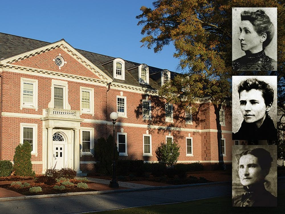 Mary, Persis and Theresa Giles are much more than an East Campus residence hall's namesake—they are Duke's first three female graduates.