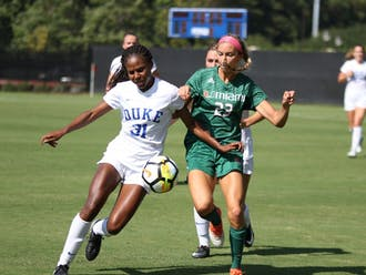 Taylor Mitchell and the Blue Devil defense locked down Georgetown's offense Thursday.