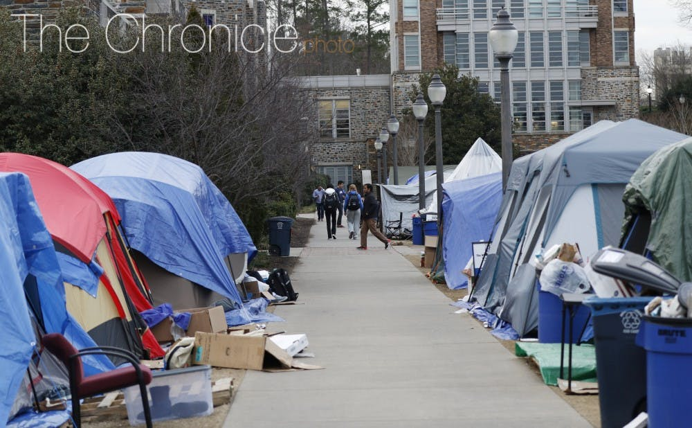 <p>Duke students often tent for their love of basketball or desire for more community.</p>