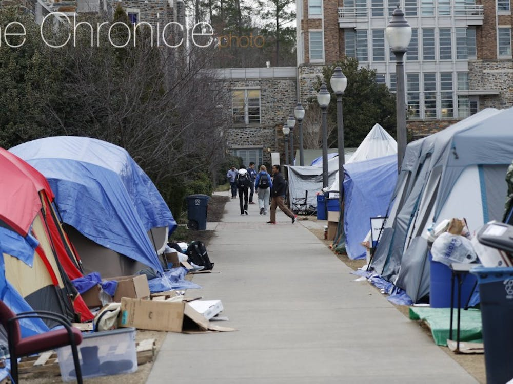 Duke students often tent for their love of basketball or desire for more community.