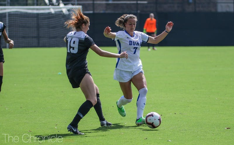 Much of Duke's offensive production on Sunday could be attributed to Taylor Racioppi.
