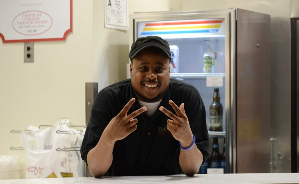 Javon Singletary gives Duke students an experience much more valuable than food points can buy.