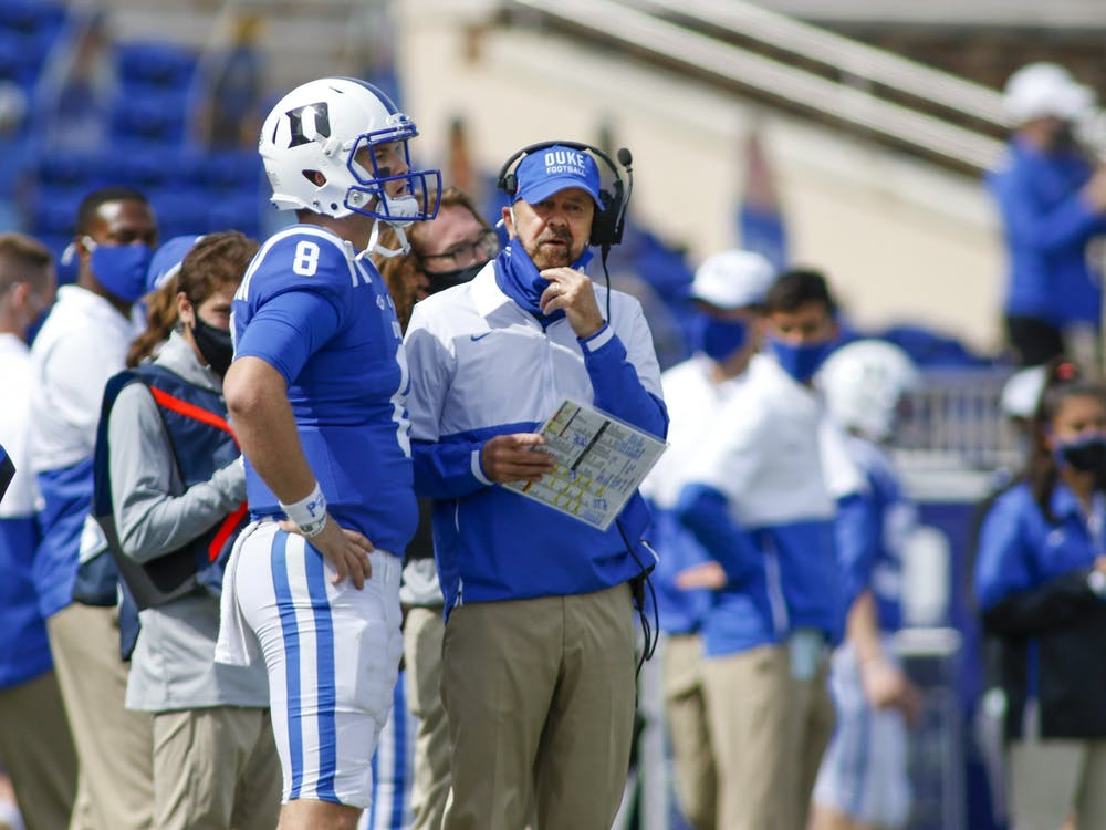Head coach David Cutcliffe and quarterback Chase Brice struggled to open up the offense Saturday.