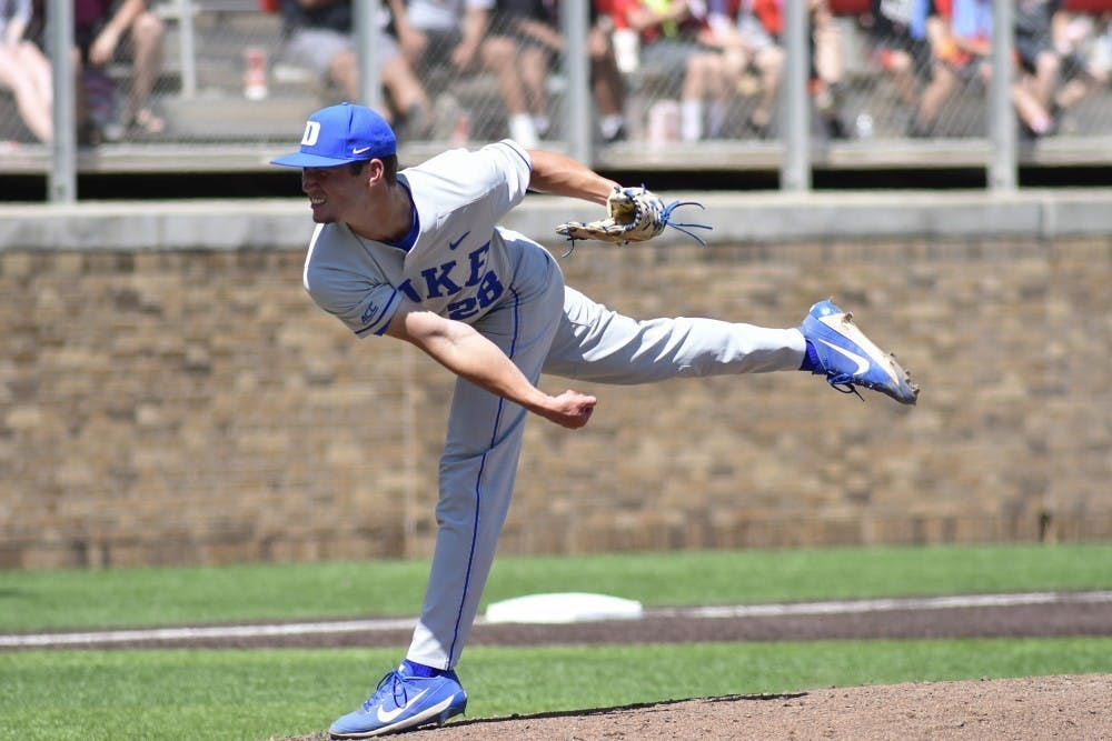 <p>Bryce Jarvis led a talented Duke pitching staff this year.</p>